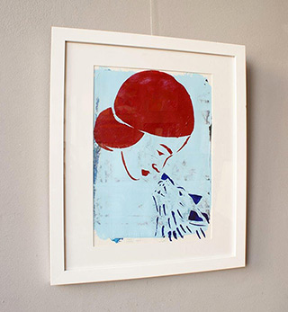 Jacek Łydżba : Girl and the wolf : Acrylic and stencil