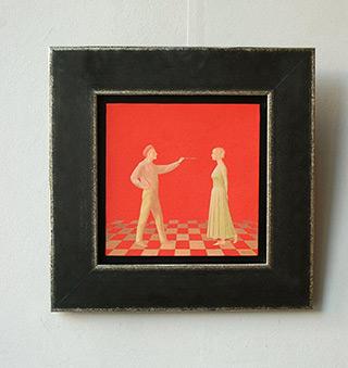 Mikołaj Kasprzyk : Painter and his model : Oil on Canvas