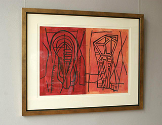 Ciro Beltrán : Confusing in deep pink : Serigraphy on paper