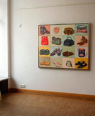 Bogna Gniazdowska : Bags and shoes : Oil on Canvas