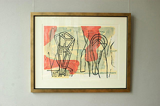 Ciro Beltrán : Confusing in yellow & red : Serigraphy on paper