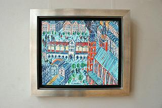 Edward Dwurnik : Kraków Old Town : Oil on Canvas