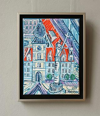 Edward Dwurnik : Warsaw Royale Castle : Oil on Canvas