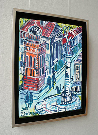 Edward Dwurnik : Warsaw Sigmund column : Oil on Canvas
