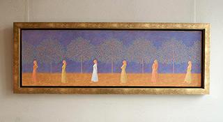 Mikołaj Kasprzyk : Walk : Oil on Canvas