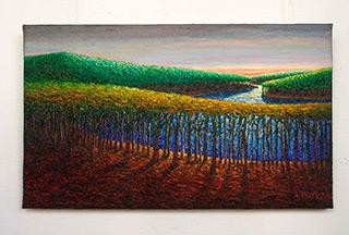 Adam Patrzyk : Malachite wood : Oil on Canvas