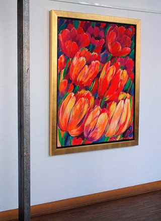 Beata Murawska : Big flowers : Oil on Canvas