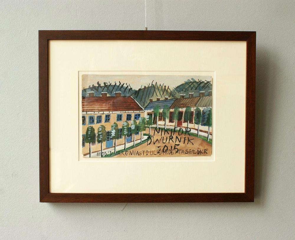 Edward Dwurnik : Houses on the edge of the village