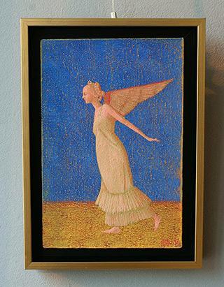 Mikołaj Kasprzyk : Angelic fly : Oil on Canvas