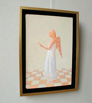 Mikołaj Kasprzyk : Angelic singing : Oil on Canvas