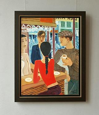 Krzysztof Kokoryn : Girl with braids : Oil on Canvas