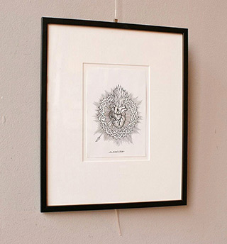 Magdalena Sawicka : Untitled Number 30 : Drawing on paper