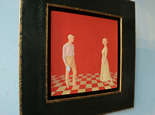 Mikołaj Kasprzyk : Letter : Oil on Canvas