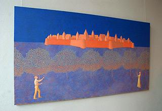 Mikołaj Kasprzyk : Under the castle : Oil on Canvas