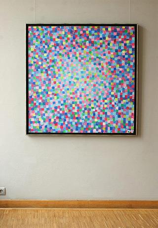 Zofia Matuszczyk-Cygańska : Blue crocodile : Oil on Canvas