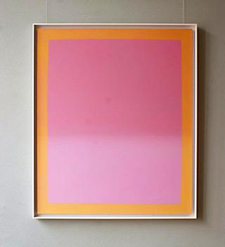 Anna Podlewska : Pink & Orange : Oil on Canvas