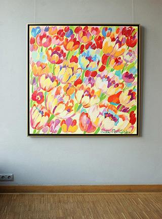 Beata Murawska : Crazy tulips : Oil on Canvas