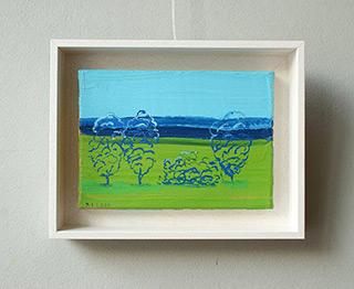 Jacek Łydżba : Little landscape : Oil on Canvas