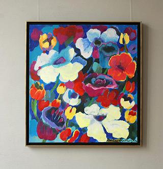 Beata Murawska : Party in the garden : Oil on Canvas