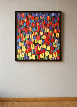 Beata Murawska : Tulips after the rain : Oil on Canvas