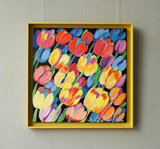 Beata Murawska : Tulips for Mr. and Mrs. : Oil on Canvas