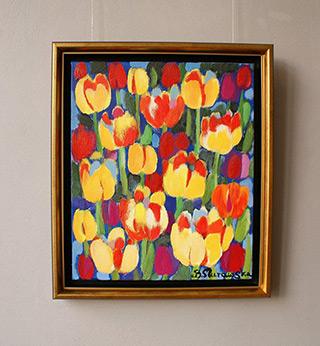 Beata Murawska : Yellow bells : Oil on Canvas