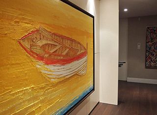 Jacek Łydżba : Boat on the sand : Oil on Canvas