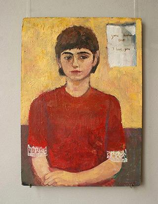 Katarzyna Karpowicz : Self-portrait from childhood : Oil on Canvas