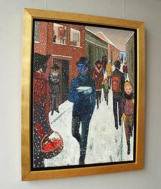 Katarzyna Karpowicz : The last snow in Budapest : Oil on Canvas