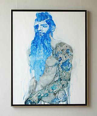 Katarzyna Swinarska : The dark one : Oil on Canvas