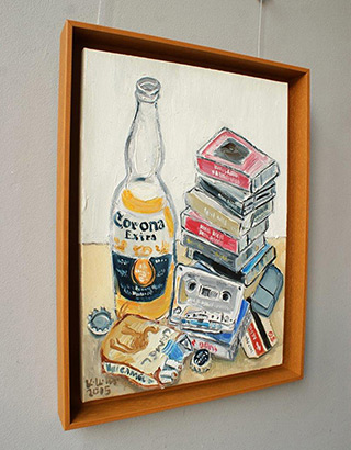 Krzysztof Kokoryn : Old school still life : Oil on Canvas