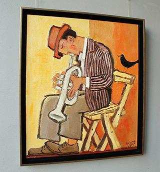 Krzysztof Kokoryn : Trumpeter and jackdaw : Oil on Canvas