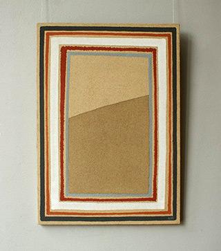 Łukasz Majcherowicz : Dune : Acrylic resin, sand and pigments on canvas