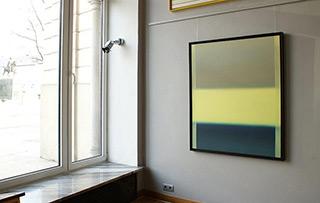Anna Podlewska : Last year green : Oil on Canvas