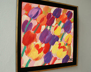 Beata Murawska : Garden party : Oil on Canvas