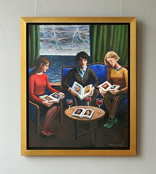 Katarzyna Karpowicz : History of art students : Oil on Canvas