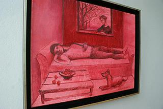 Katarzyna Karpowicz : Rose-tinted dream : Oil on Canvas
