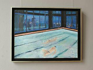 Katarzyna Karpowicz : Swimming in NY : Oil on Canvas