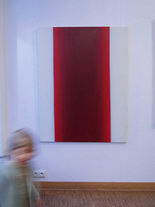 Anna Podlewska : Red and White : Oil on Canvas