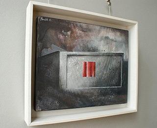 Łukasz Huculak : Window behind the pink curtain : Oil on Canvas