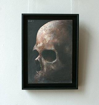 Łukasz Huculak : Skull No. 17 : Tempera on panel
