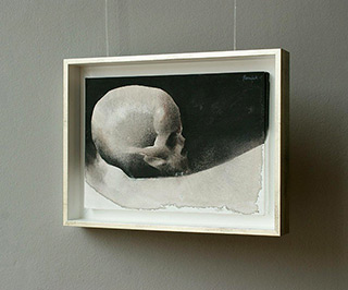 Łukasz Huculak : Skull No. 20 : Tempera on panel
