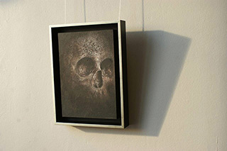 Łukasz Huculak : Skull No. 72 : Tempera on panel