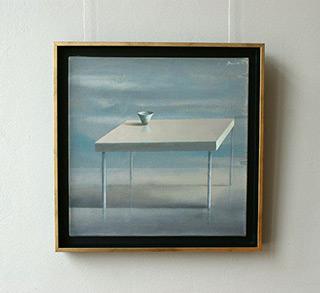 Łukasz Huculak : Table (black frame) : Oil on Canvas