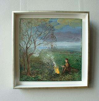 Katarzyna Karpowicz : Campfire : Oil on Canvas