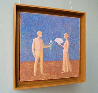 Mikołaj Kasprzyk : Meeting : Oil on Canvas