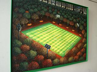 Adam Patrzyk : Football in central park : Oil on Canvas