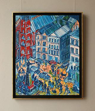Edward Dwurnik : Tumult in Kraków : Oil on Canvas