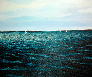 Adam Patrzyk : Lake : Oil on Canvas