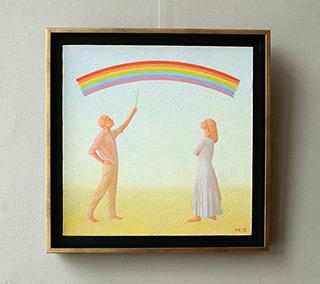 Mikołaj Kasprzyk : Rainbow Prototype : Oil on Canvas
